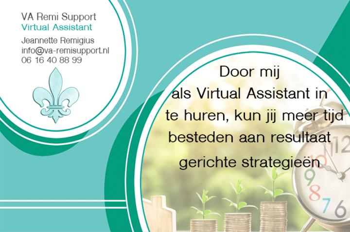 Tip #2: Door mij als Virtual Assistant in te huren, kun jij meer tijd bestanden aan resultaat gerichte strategieën
