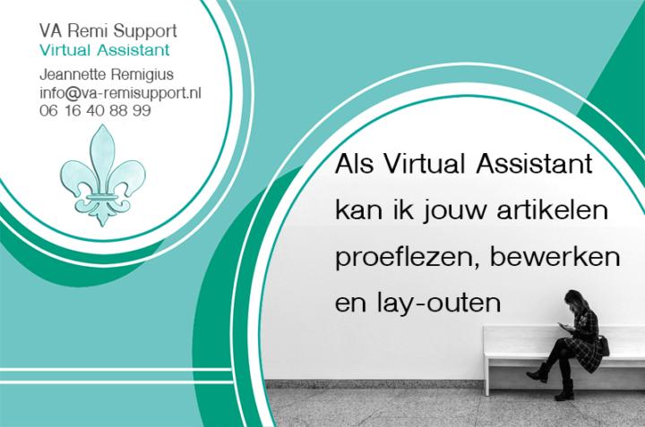 Tip #3: Als Virtual Assistant kan ik jouw artikelen proeflezen, bewerken en lay-outen